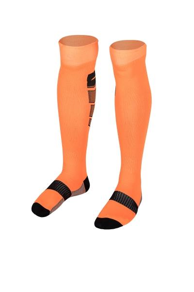 La-2173 Fosfor Turuncu Siyah Futbol Çorabı 36-40 Numara