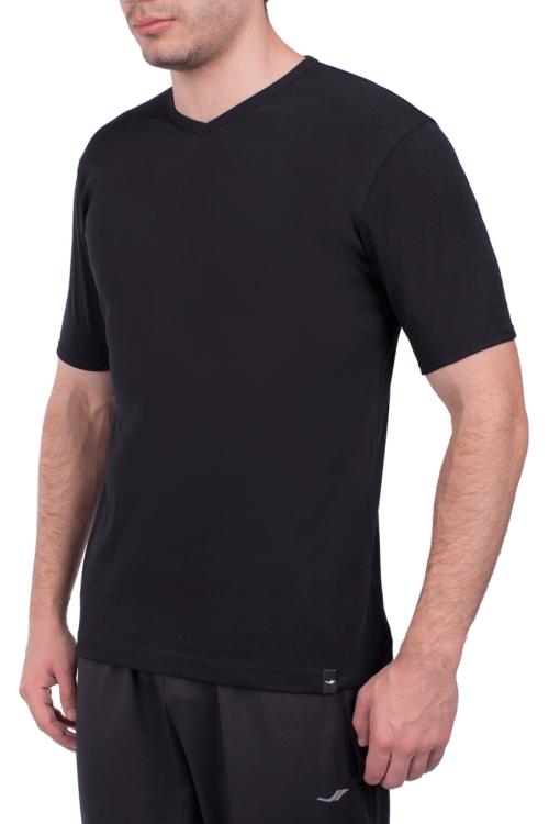 18S-1244 Siyah Erkek Kısa Kollu T-Shirt