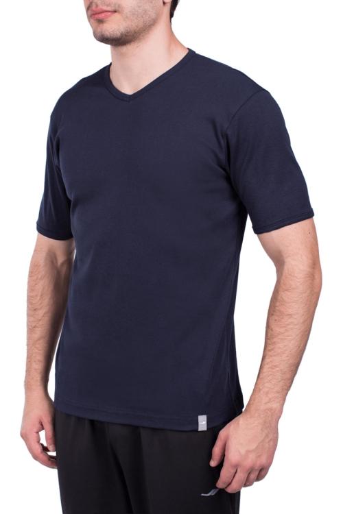 18S-1244 Koyu Lacivert Erkek Kısa Kollu T-Shirt