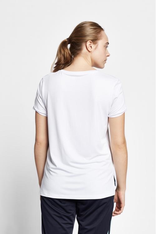 19B-2142 Beyaz Bayan Kısa Kollu T-Shirt