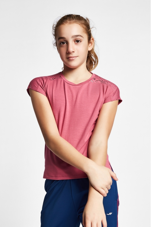 19B-3140 Pembe Çocuk Kısa Kollu T-Shirt