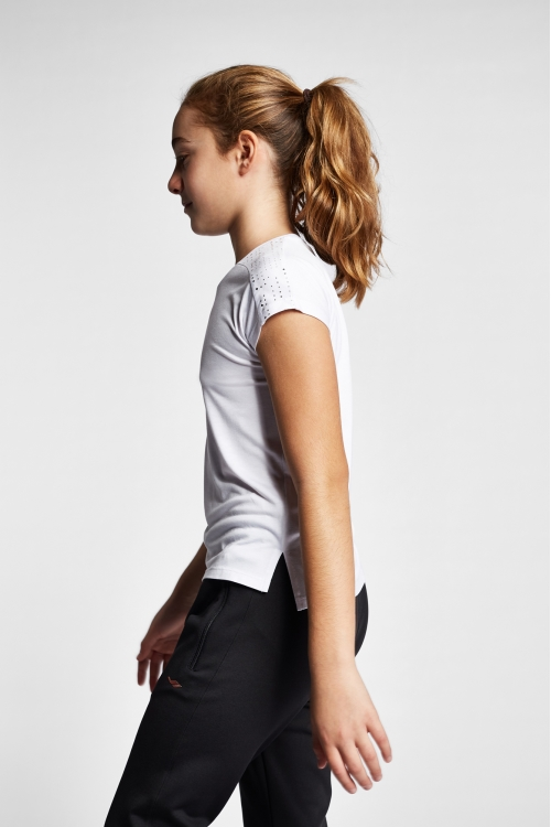 19B-3140 Beyaz Çocuk Kısa Kollu T-Shirt