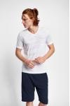 19B-1151 Beyaz Erkek Kısa Kollu T-Shirt