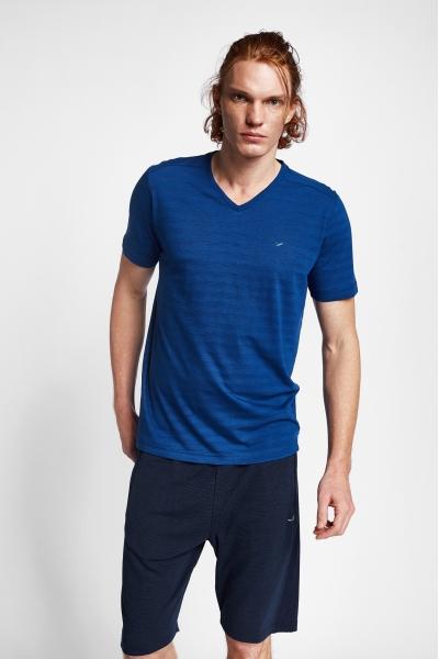 19B-1151 İndigo Erkek Kısa Kollu T-Shirt