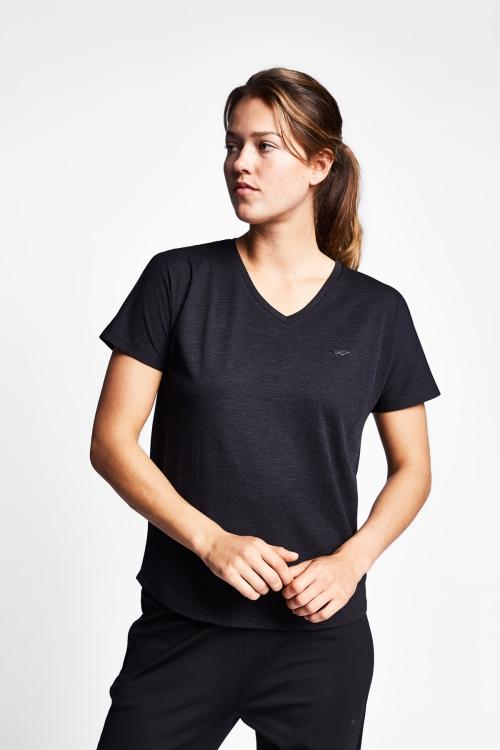 19N-2010 Siyah Bayan Kısa Kollu T-Shirt