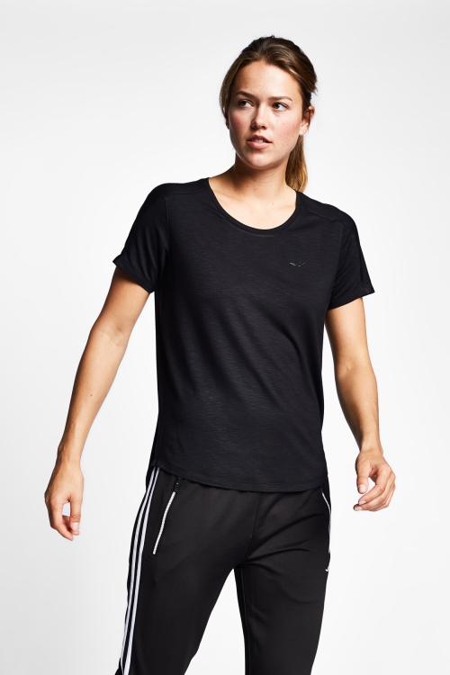 19N-2139 Siyah Bayan Kısa Kollu T-Shirt