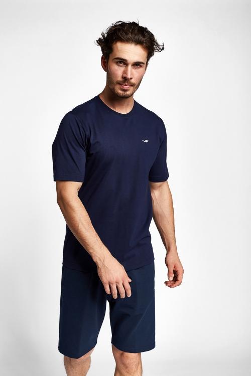 19S-1202-19N Lacivert Erkek Kısa Kollu T-Shirt