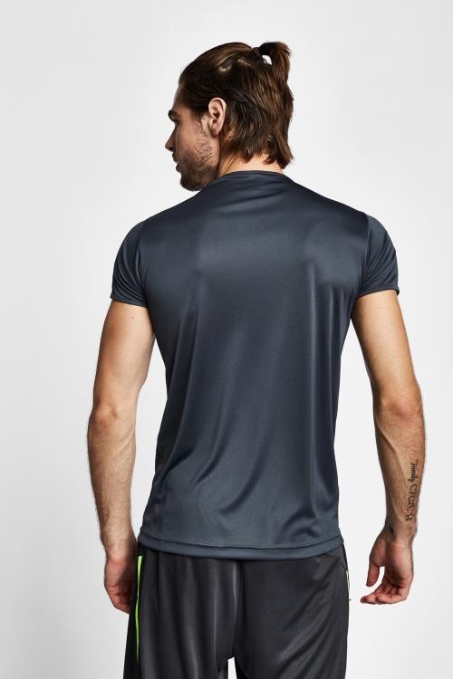 19S-1220-19N Gri Erkek Kısa Kollu T-Shirt