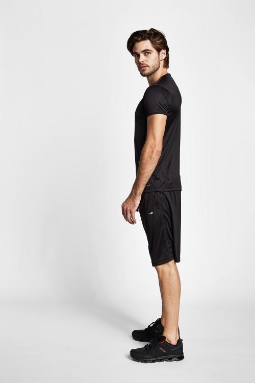 19S-1221-19N Siyah Erkek T-Shirt