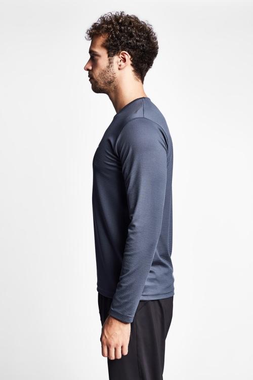 19S-1225-19N Antrasit Uzun Kollu T-Shirt