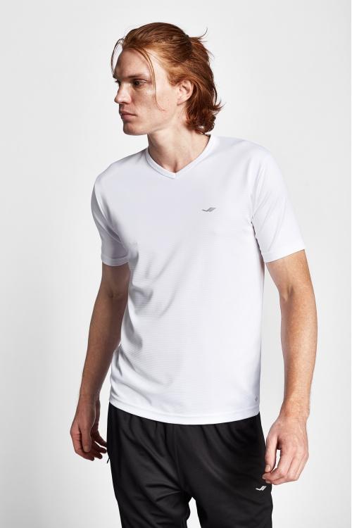 19S-1231-19N Beyaz Erkek Kısa Kollu T-Shirt