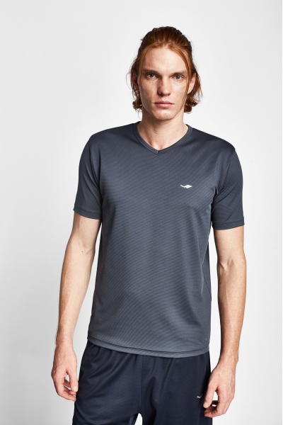 19S-1231-19N Antrasit Erkek Kısa Kollu T-Shirt