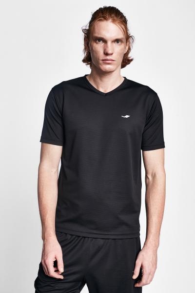 19S-1231-19N Siyah Erkek Kısa Kollu T-Shirt