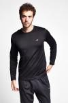 19S-1233-19N Siyah Erkek Uzun Kollu T-Shirt