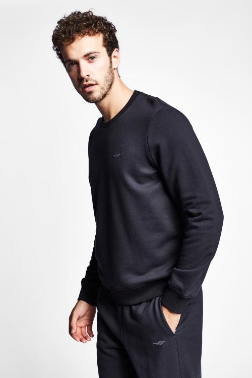 19S-1242-19N Siyah Erkek Sweatshirt