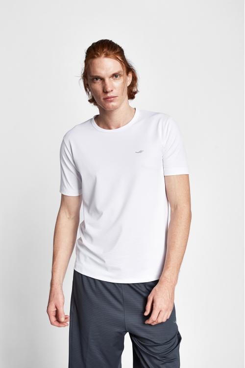 19S-1249-19N Beyaz Erkek Kısa Kollu T-Shirt