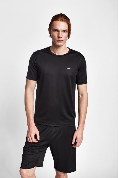 19S-1249-19N Siyah Erkek Kısa Kollu T-Shirt