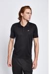 19S-1252-19N Siyah Erkek Kısa Kollu Polo T-Shirt