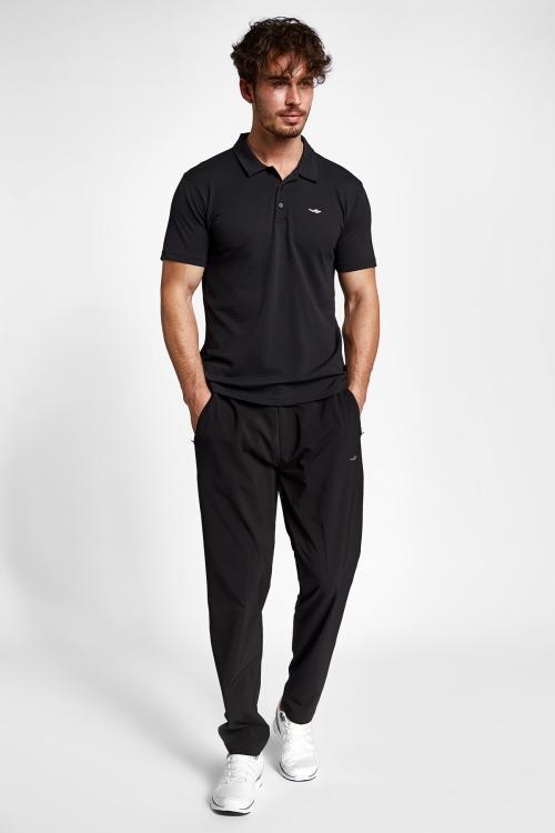 19S-1275-19N Siyah Erkek Kısa Kollu Polo T-Shirt