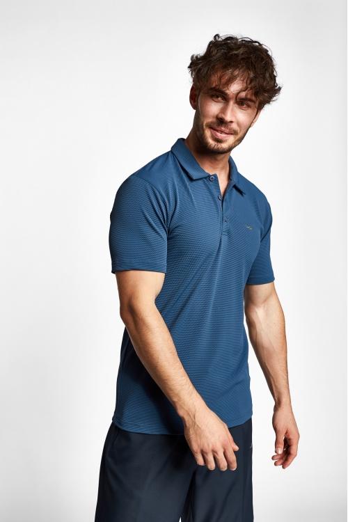 19S-1275-19N Mürekkep Erkek Kısa Kollu Polo T-Shirt