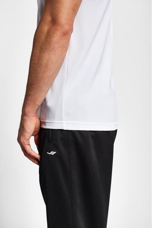 19S-1294-19N Beyaz Erkek Kısa Kollu T-Shirt