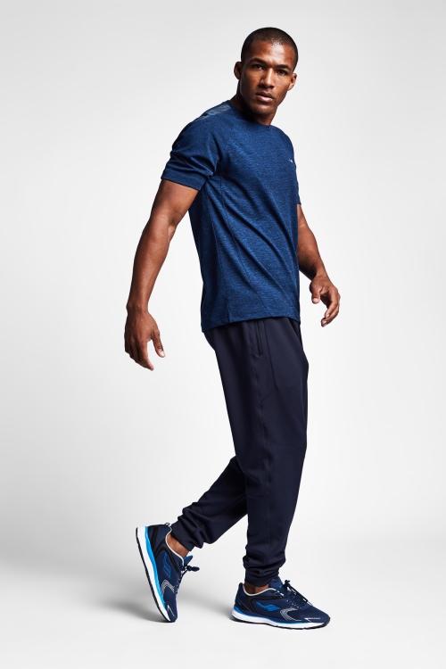 19N-1026 indigo Erkek Antrenman T-Shirt