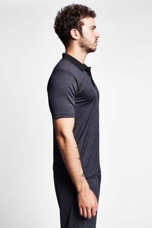 19N-1137 Gri Erkek Kısa Kollu Polo T-Shirt