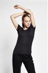 19S-2205-19B Siyah Bayan Kısa Kollu T-Shirt