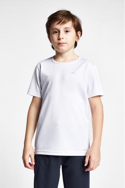 19S-3249-19B Beyaz Çocuk Kısa Kollu T-Shirt
