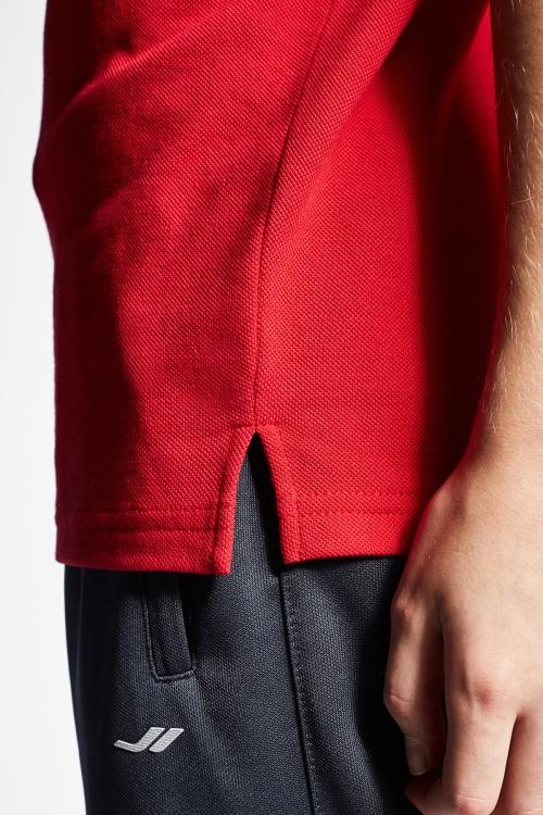 19S-3251-19B Kırmızı Çocuk Kısa Kollu Polo Yaka T-Shirt