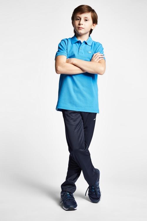 19S-3251-19B Mavi Çocuk Kısa Kollu Polo Yaka T-Shirt