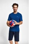19S-1202-19B Mavi Erkek Kısa Kollu T-Shirt