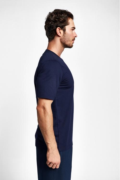 19S-1202-19B Lacivert Erkek Kısa Kollu T-Shirt