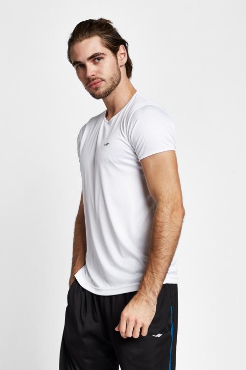 19S-1220-19B Beyaz Erkek Kısa Kollu T-Shirt