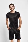 19S-1220-19B Siyah Erkek Kısa Kollu T-Shirt