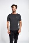 19S-1227-19B Gri Erkek Kısa Kollu T-Shirt