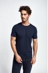 19S-1227-19B Lacivert Erkek Kısa Kollu T-Shirt