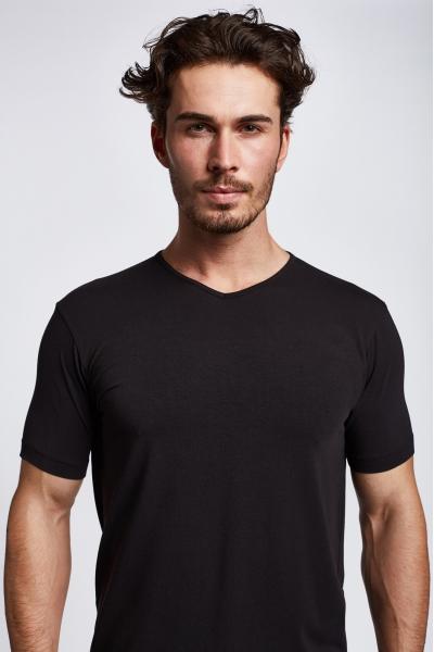 19S-1246-19B Men T-Shirt Black