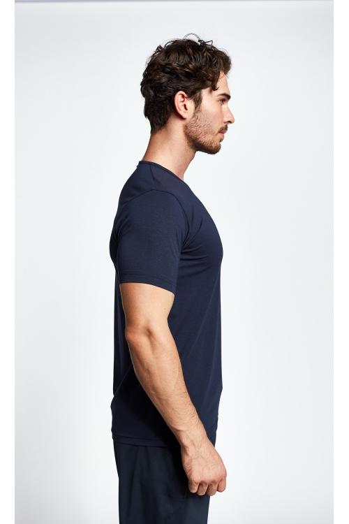 19S-1246-19B Lacivert Erkek Kısa Kollu T-Shirt