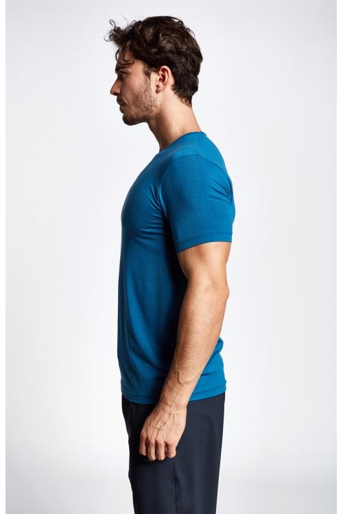19S-1246-19B Mavi Erkek Kısa Kollu T-Shirt