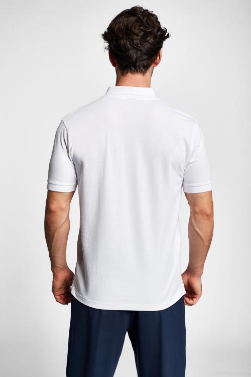 19S-1251-19B Beyaz Erkek Kısa Kollu Polo Yaka T-Shirt