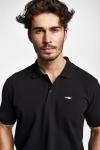 19S-1251-19B Siyah Erkek Kısa Kollu Polo Yaka T-Shirt