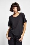 19Y-2161 Siyah Bayan Kısa Kollu T-Shirt
