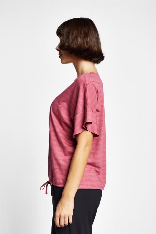 19Y-2161 Gül Kurusu Bayan Kısa Kollu T-Shirt