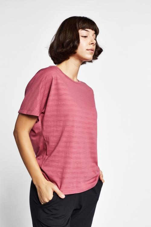 19Y-2171 Gül Kurusu Bayan Kısa Kollu T-Shirt