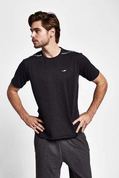 19Y-1004 Siyah Erkek Kısa Kollu T-Shirt