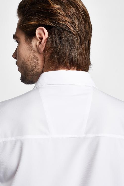 19Y-1019 Beyaz Erkek Outdoor Kısa Kollu Gömlek