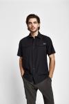 19Y-1019 Men Outdoor Short Sleeve Shirt Black