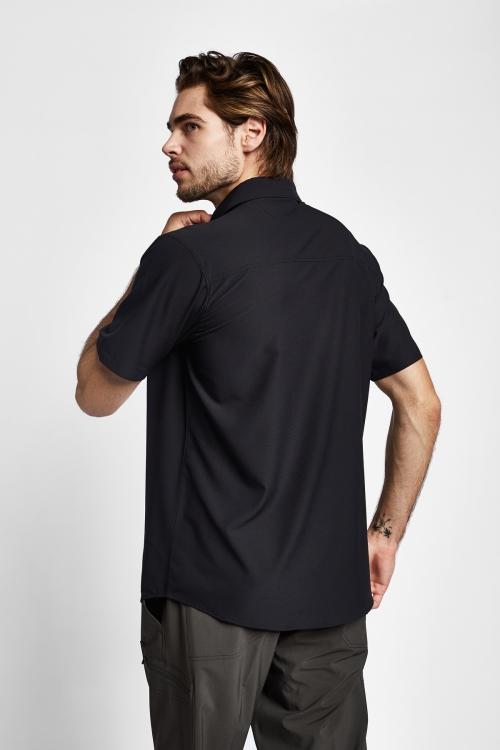 19Y-1019 Siyah Erkek Outdoor Kısa Kollu Gömlek