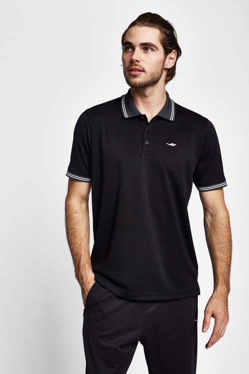 19Y-1166 Siyah Erkek Kısa Kollu Polo Yaka T-Shirt